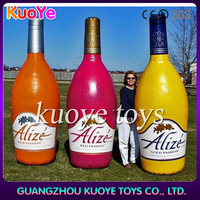 Giant inflatable bottle for advertising,inflatable bottles cartoon model,customize inflatable bottle for sale