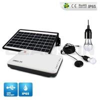 Portable integrated mini solar home lighting system solar powered led light