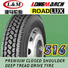 China LONGMARCH truck tire price 295/75r22.5