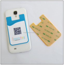 3m sticker phone stand silicone smart wallet with phone card holder