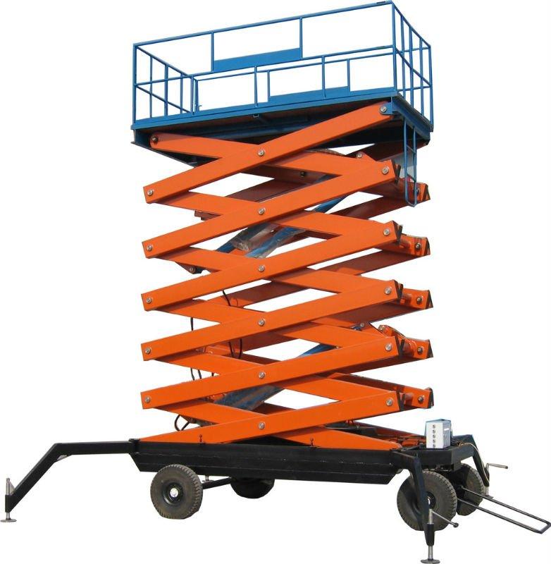 Mini Hydraulic Scissor Lift : Mobile hydraulic mini scissor lifting platform four wheels