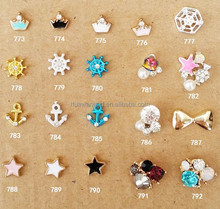 Hot sale sweet crown and start 3D nail art decoration beauty accessories