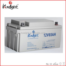 12v 65ah lead acid battery for solar streetlight system as backup power