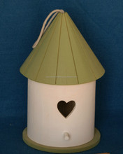 solid pine wood bird houses painted color ,wood bird cage ,wood bird nest paint color