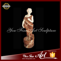 Life Size Cream-colored Lady Marble Statue Nude Girl Marble Statue