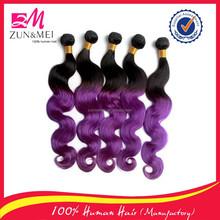 fashionable aliexpress hair hot selling two tone human hair extension peruvian hair