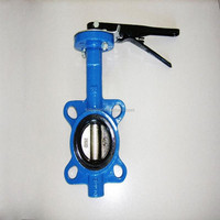 Handle wafer butterfly valve ANSI DIN JIS hard seal
