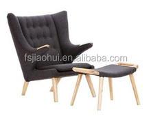 leather papa bear chair hotel project hans j wegner furniture chair modern armchair