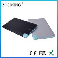 2015 super slim li-polymer credit card power bank 2500mah for smartphone