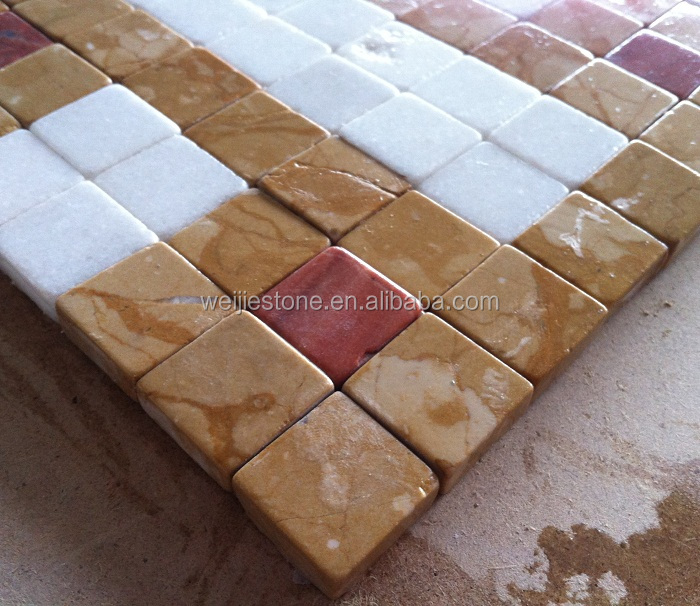 New Design Mixed Color Marble Mosaic Decoration Ceramic Floor Tile ...