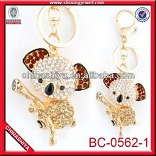 2012 best seller rhinestone Golden Champion Dog keychain