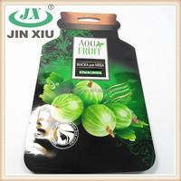 OEM made irregualr bottle shaped dried fruit packaging bag