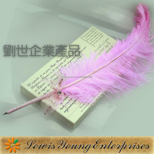 Fancy style Ostrich feather pen quill gifts ballpoint pen