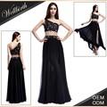 Design de moda brilhante chiffon longo simples vestidos de baile