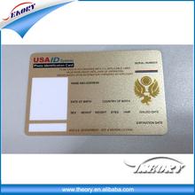 Pre-printed or white photo ID of health card employee ID card
