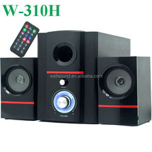 New product popular small computer speakers for mobile phone with USB/SD/FM/Mini Remote Control