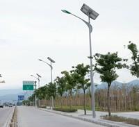 Garden Application Single-arm Type motion sensor led street light solar with pole