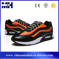 New fashion trend lace up leather mens sneaker running men sport shoes