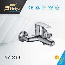 China supplier cheap bathroom 2 hole wall mounted brass bath shower fanucets mixers