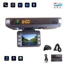 hot sale multi language full hd car dvr camera with GPS and Radar speed detector