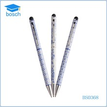 New china products blue and white porcelain ballpen stylus touch ball pen