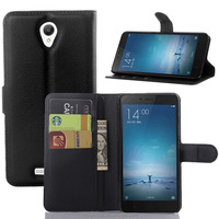 Fashion flip wallet leather case for xiaomi redmi note 2, for note 2 leather case with stand card slot