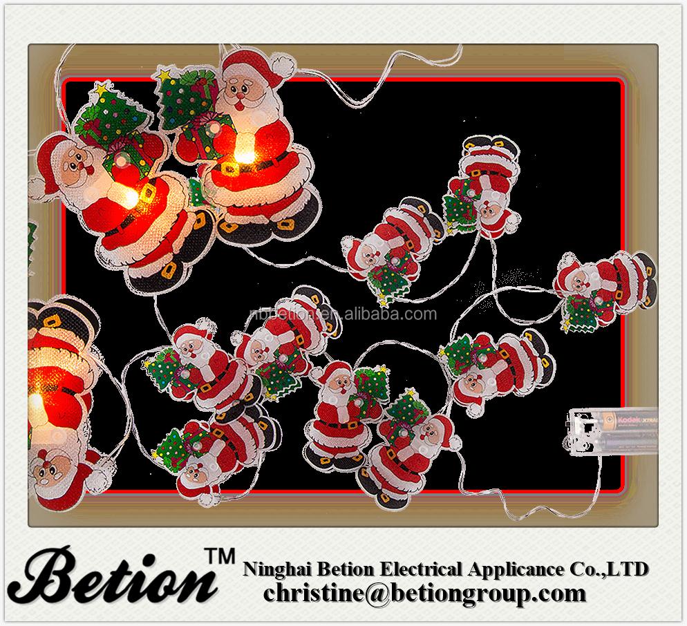 Light Chain 10 Led Christmas Light Chain Santa Claus Chrismas Led ...