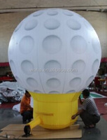 10ft/3m inflatable golf ball/replica/model/figure/character/cartoon/for advertising/promotional/event/party/display decor W973