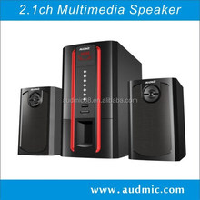 2.1ch super bass multimedia speaker with USB/SD/FM/REMOTE/DISPLAY
