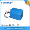 customized rechargeable 3S18P 18650 lithium ion 12v 36ah battery for LED lights/ e bike/clearner