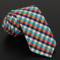 High quality wholesale plaids 100% polyeater 12 colors for choice fashion men ties