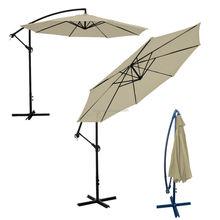 NEW Offset Umbrella 10' Feet Tan Patio Crank Up garden umberlla