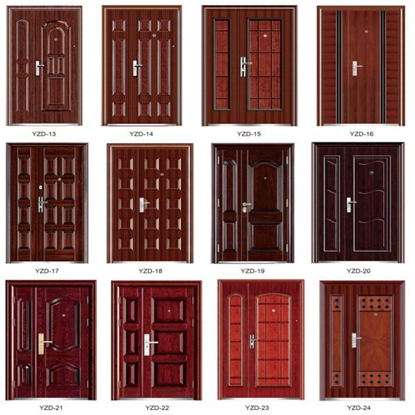 Lastest design security steel double door design view for Double door design catalogue