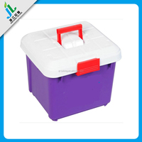 wholesale china manufacturer custom plastic doll storage case with handle and wheels
