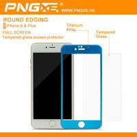 Professional Supplier mobile color 9h tempered glass screen protector with design wholesale for iphone 6 plus