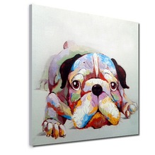 HandPainted Wall Art Picture Oil Painting On Canvas High Quality Paintings Thinking Dod Large Decoration For Living Room