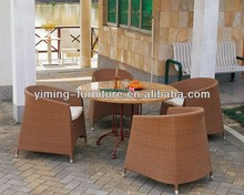 AR-C043,AR-T057 Four seater Synthetic Rattan Round Yard leisure Furniture sets