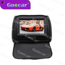 black auto dvd with zipper cover headrest monitor