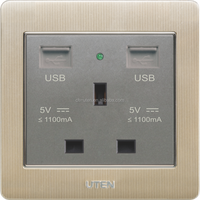 13A British socket with 2 USB charger hotel home use