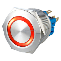 25mm Stainless Steel Momentary Ring LED Push Button Switch