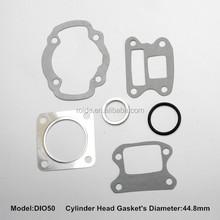 DIO50 motorcycle full gasket set including cylinder gasket/muffler gasket