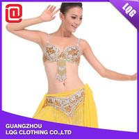Sexy style bling beaded bra belt wholesale belly dance costumes