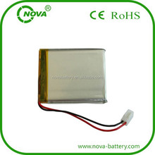 rechargeable li-polymer battery 3.7v with 1500mah 574750