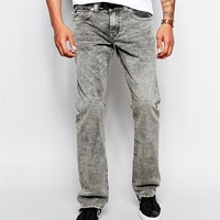 Straight fit well worn export surplus jeans