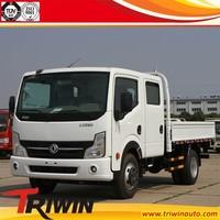 chinese famous brand 4x2 drive wheel EURO4 double cabin 130hp 96KW diesel engine 6 wheel mini transport truck