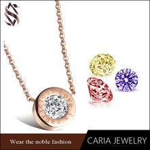 Fashion jewelry 2015 birthstone ring pendant,stainless steel floating crystal moonstone ring pendant jewelry