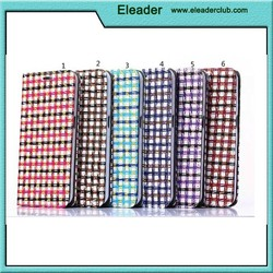 Concentrated Plaid Painting Wallet Magnetic leather case for samsung galaxy s6