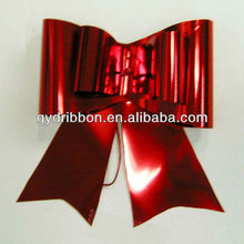"2"" Red PET Holographic Butterfly Bow Tie WITH Elastic band for gift packaging"