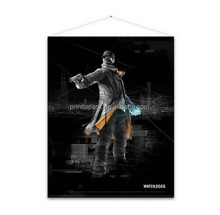 painting poster prints in black