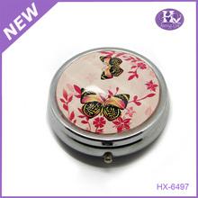 Hx-6497 bronze metall schmetterling metall mini pillendose einweg für medizinische nette geschenke